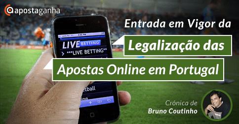 Entrada em Vigor da Legalização das Apostas Online em Portugal