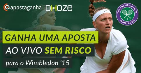 Aposta Ao Vivo Sem Risco de 5€ para o Wimbledon 2015