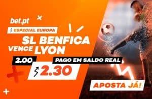 """Melhor odd Para a Vitória do Benfica """"europeu"""""""