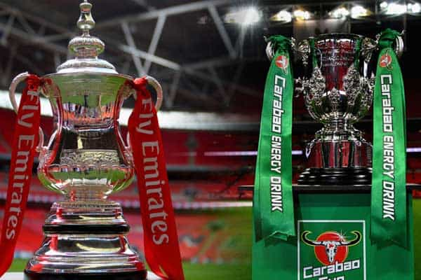 Jogos escaldantes na Taça da Liga Inglesa esta Quarta