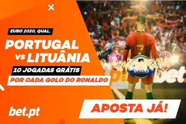 Ganha 10 jogadas grátis por cada golo do Ronaldo frente à Lituânia