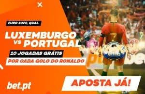 Jogadas Gratis CR7 - Luxemburgo vs Portugal
