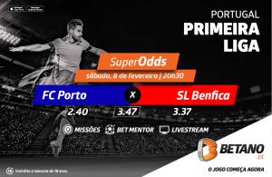 FC Porto x Benfica é um jogo com SuperOdds