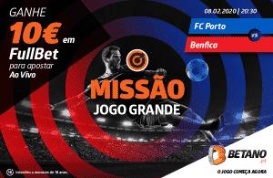 Oferta de 10€ para apostar no FC Porto vs Benfica