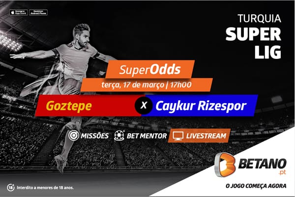 Goztepe vs Rizespor com SuperOdds e LiveStream