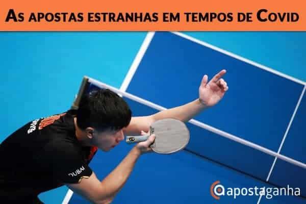 Confinamento dos desportos levou a muitas apostas estranhas – Tenis de Mesa