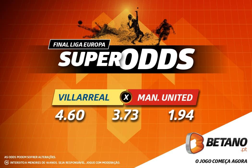 Villarreal vs Manchester United é um jogo com SuperOdds