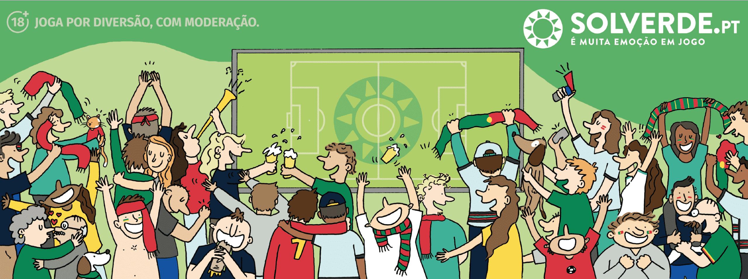 obra de apoio à seleção em vésperas do Euro 2021