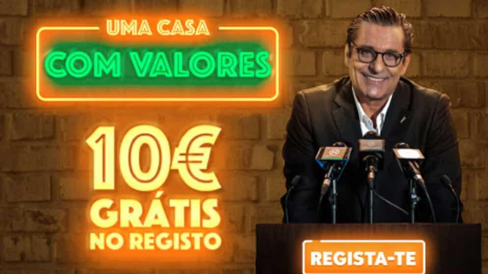 Recebe Bónus de 10 euros sem depósito para apostar